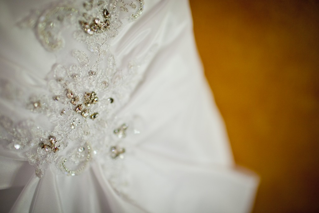 Wedding dress bling!