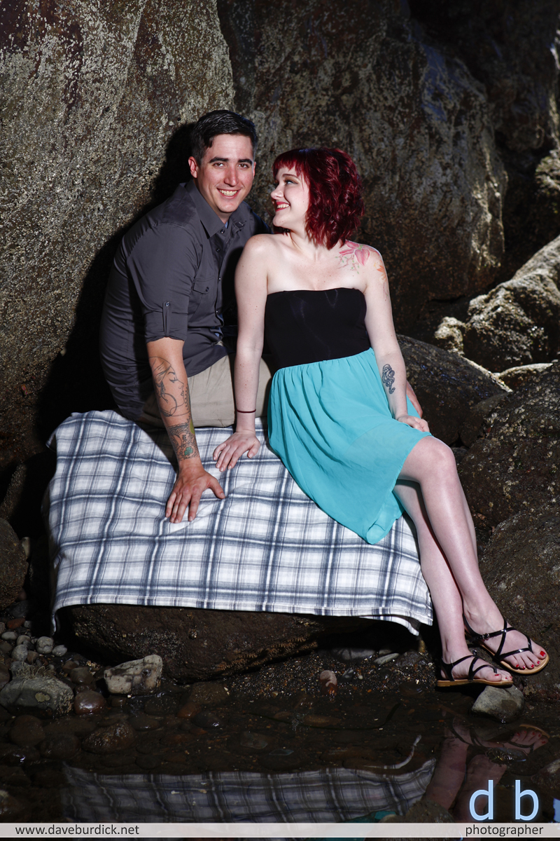 Danielle & Mike's engagement session, Rockaway Beach, Oregon